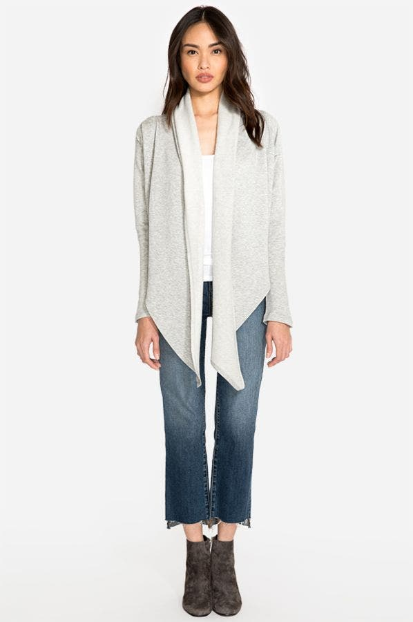 BRUSHED FRENCH TERRY CARDIGAN