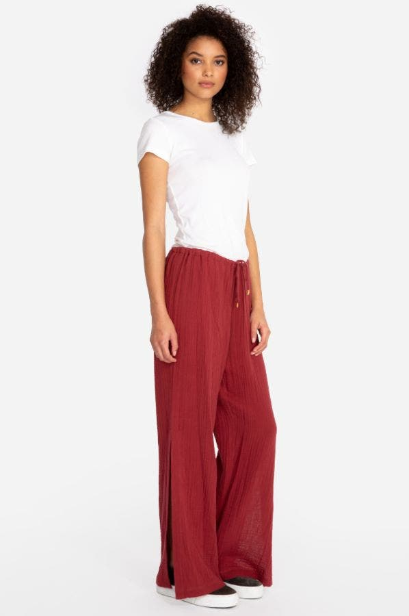 GAUZE HIGH SLIT PANT
