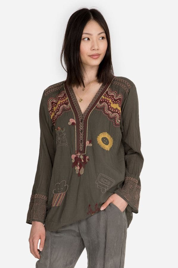 LYND COTTON BLOUSE