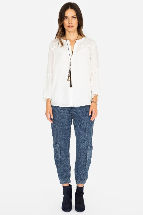 SANA DENIM PULL-ON  PANT
