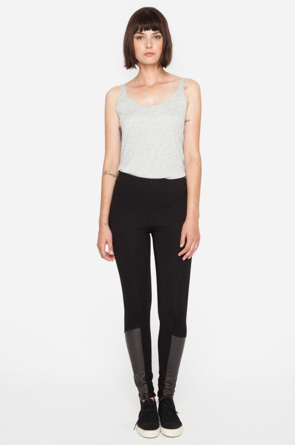 Vernet Leather Leggings