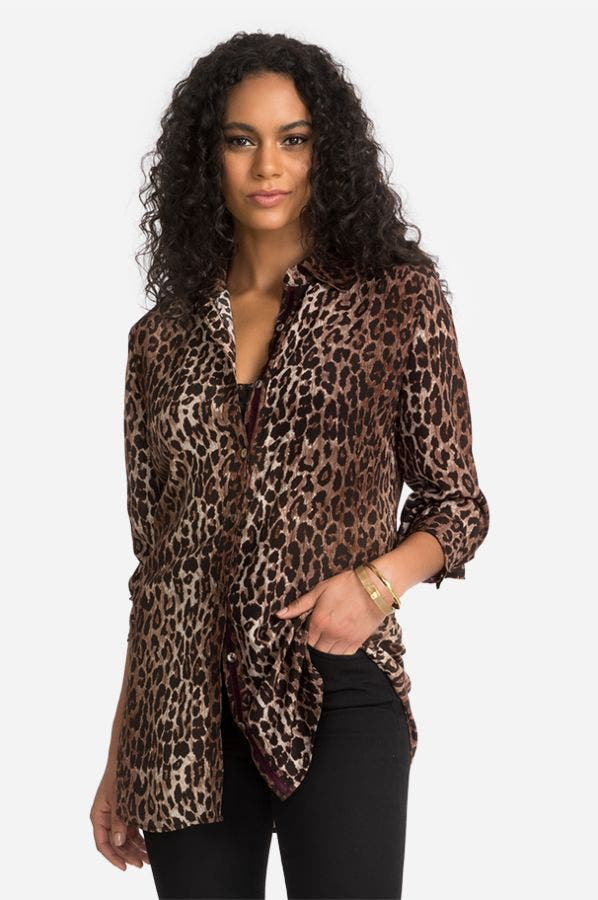 LEOPARD TUNIC SHIRT