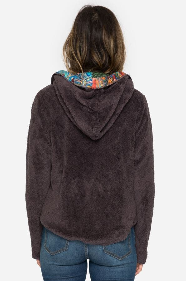 Lorenna Short Hoodie Chocolate Currant