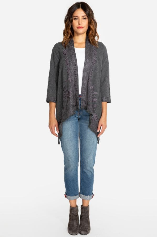 DELPHINE KNIT DRAPED CARDIGAN