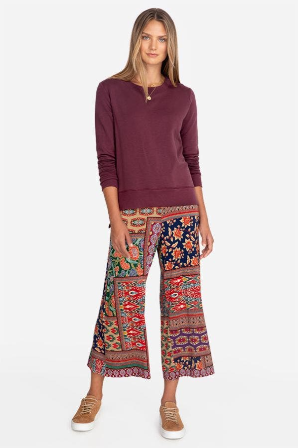 JULES CONTRAST PULL ON CROPPED PALAZZO