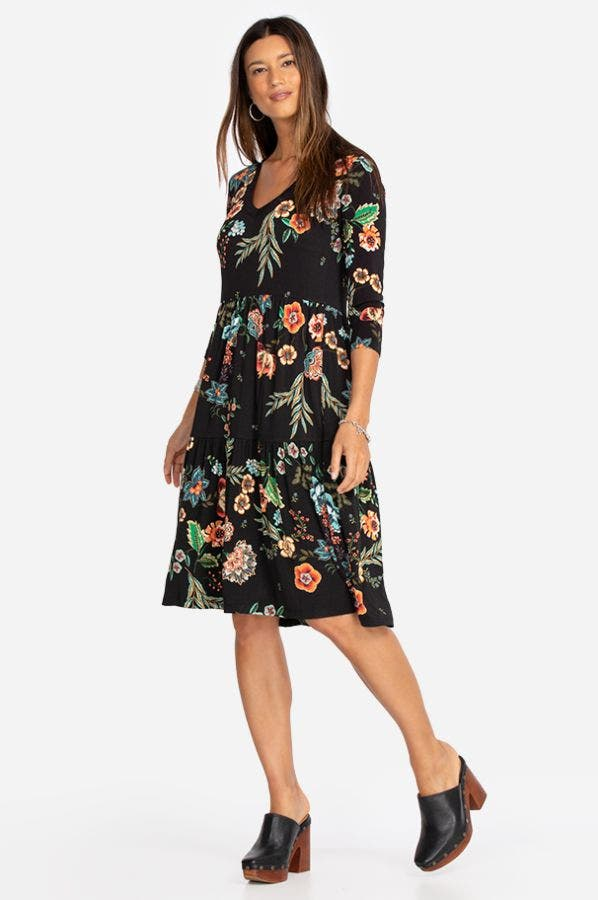 ARDELL LONG SLEEVE TIERED DRESS
