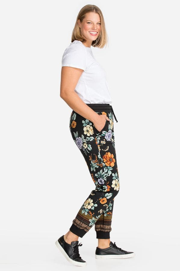 GOLDEN SPRING FRENCH TERRY JOGGER-PLUS SIZE
