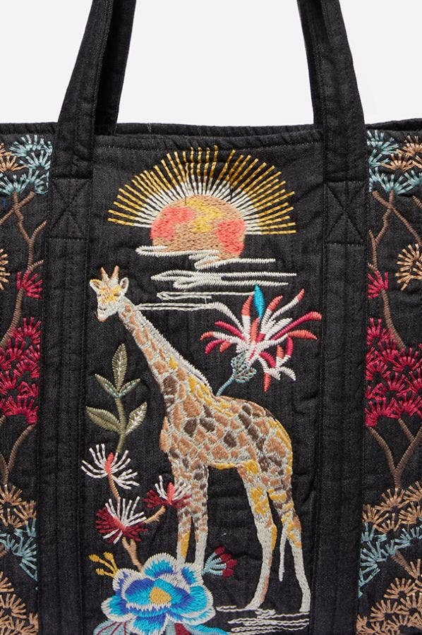 SAVANNA QUILTED TOTE BAG
