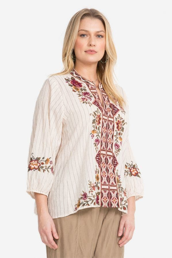 NEPAL EFFORTLESS SWING BLOUSE-PLUS SIZE