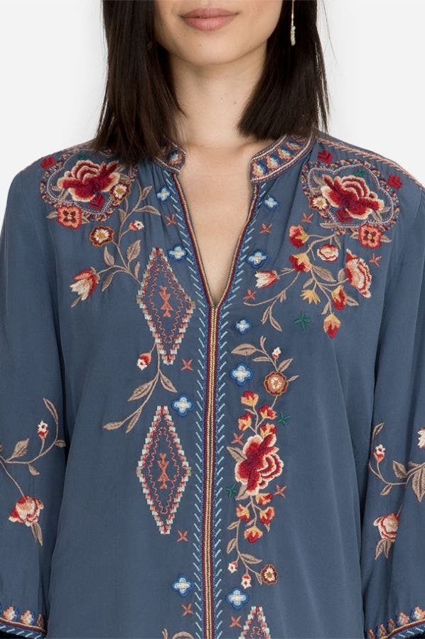 CHRYSALIS VELVET SWING BLOUSE