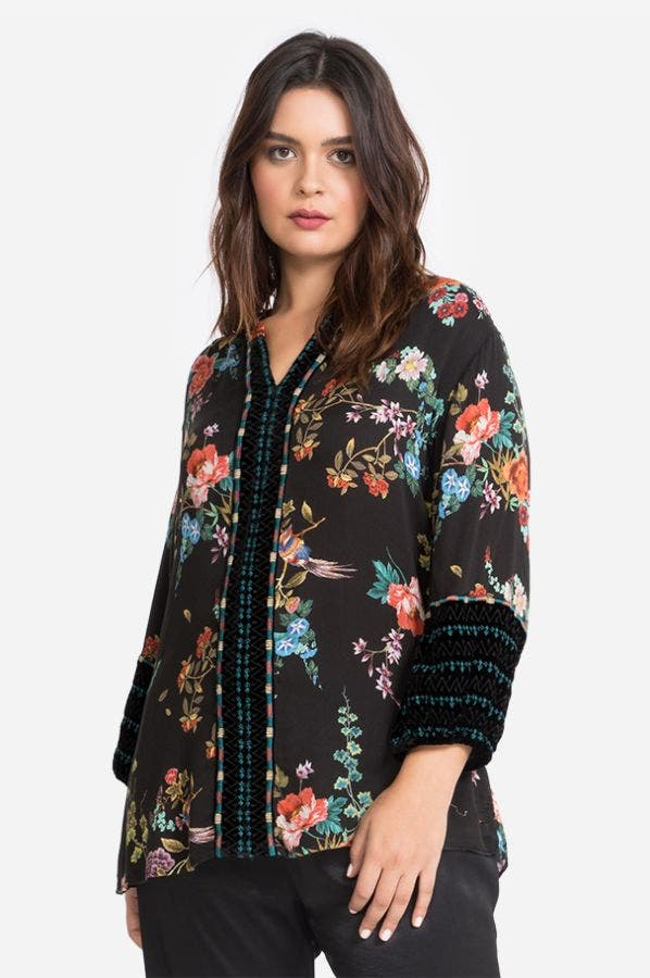 PARIS EFFORTLESS BLOUSE-PLUS SIZE