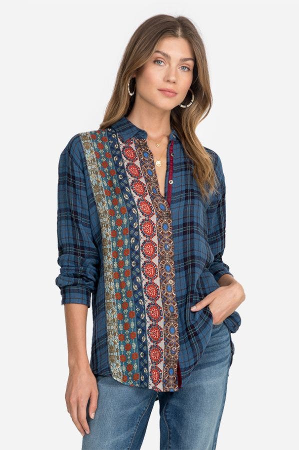 MIXED PANEL SHIRT