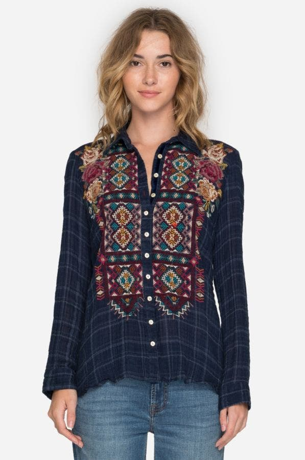 Delaney Button Back Shirt