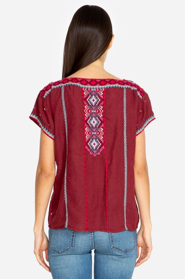 KAYA CROP PEASANT TOP