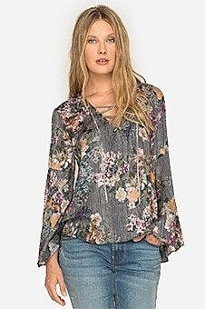 Laceup Swing Blouse