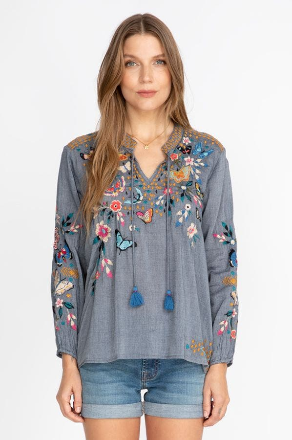 MARIPOSA EFFORTLESS PEASANT BLOUSE
