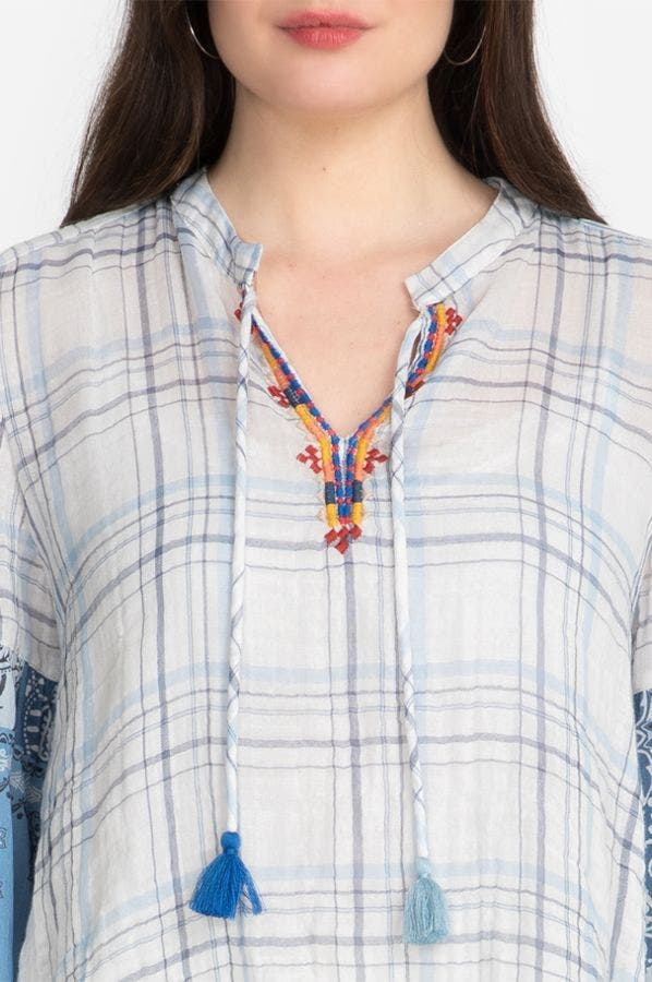 EFFORTLESS PEASANT BLOUSE