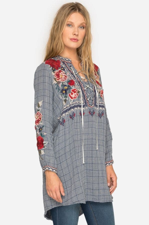 Mica Laceup Henley Tunic