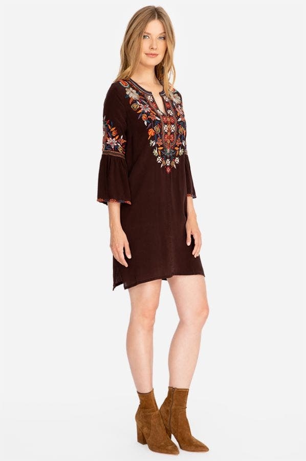 LAILANI FLARE SLEEVE TUNIC DRESS