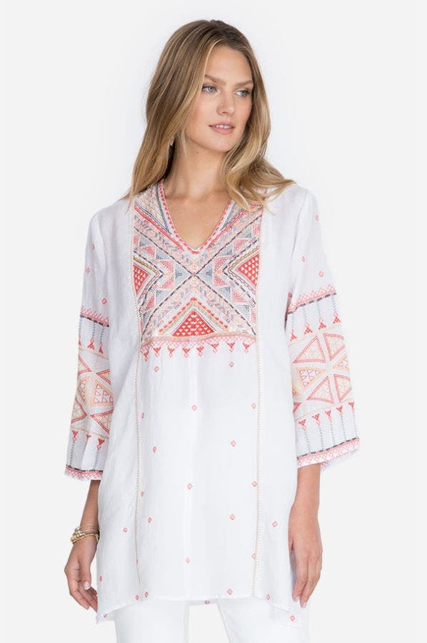 THORA V-NECK TOLEDO TUNIC