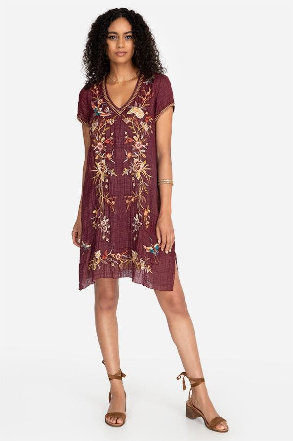 VARLESE DRAPE TUNIC DRESS