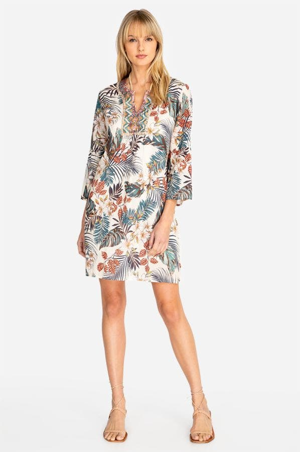 FLARE SLV TUNIC DRESS
