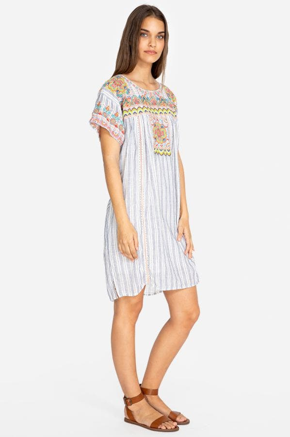 TAMIA PEASANT TUNIC DRESS