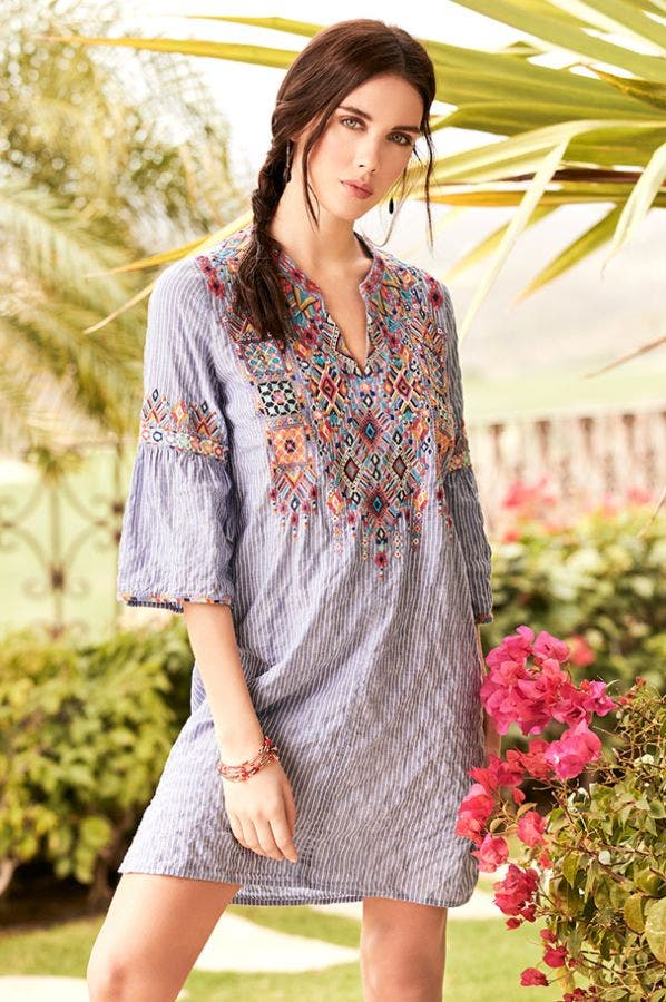 SHANKARA FLARE SLV TUNIC DRESS