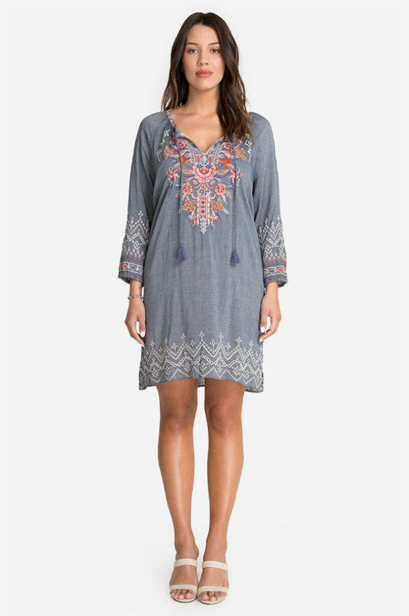 ELLINGTON PEASANT DRESS-PLUS SIZE