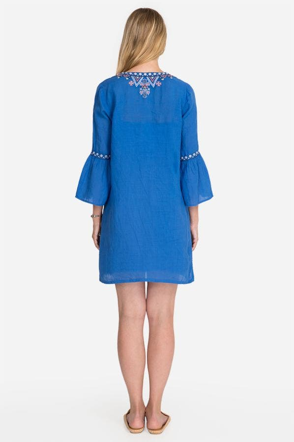 CHIARA FLARE SLEEVE DRESS