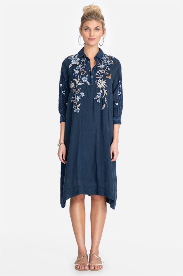 SHILOH HENLEY SHIRT DRESS