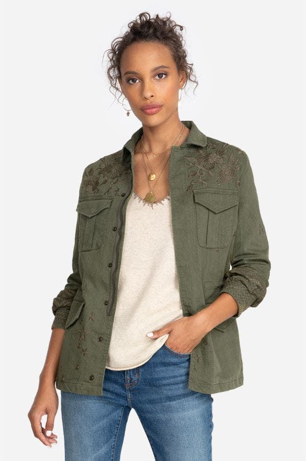 ZHENYA PARIS DRAWSTRING MILITARY JACKET