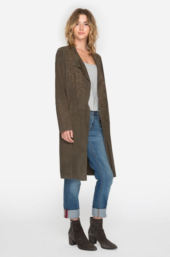 Antonia Suede Coat