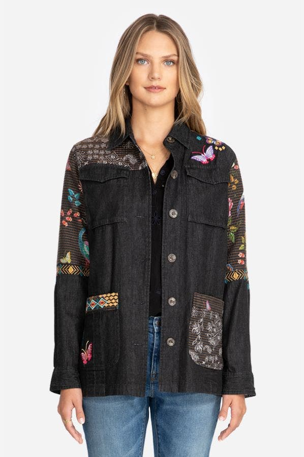 PATCH WORK MILITARY JACKET