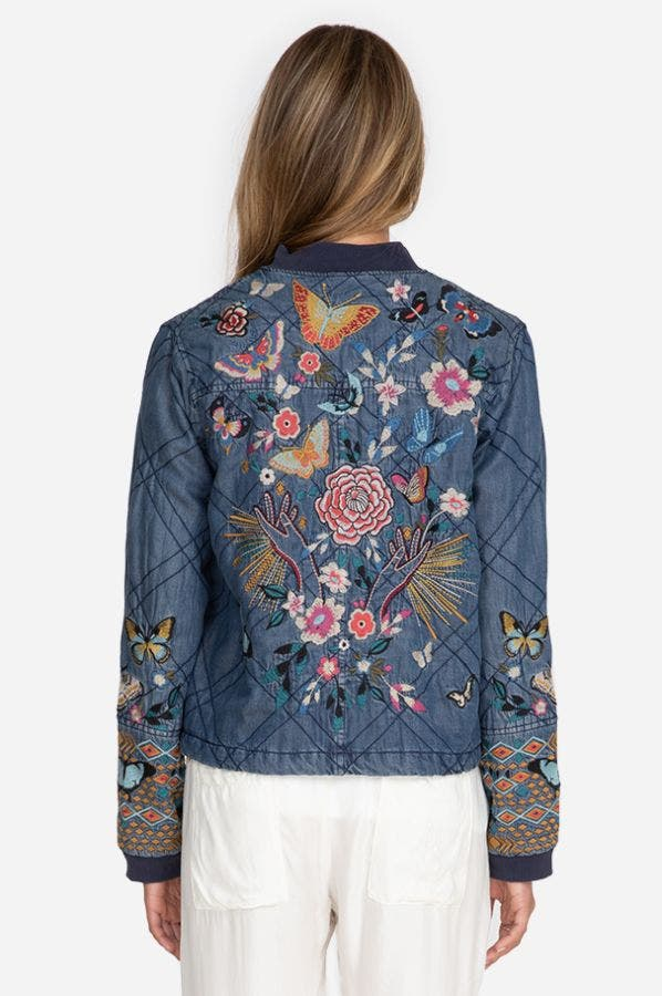 MARIPOSA QUILTED SEAMED BOMBER