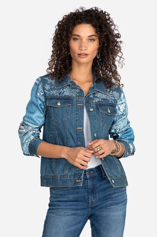 BANDANA PATCHED DENIM JACKET