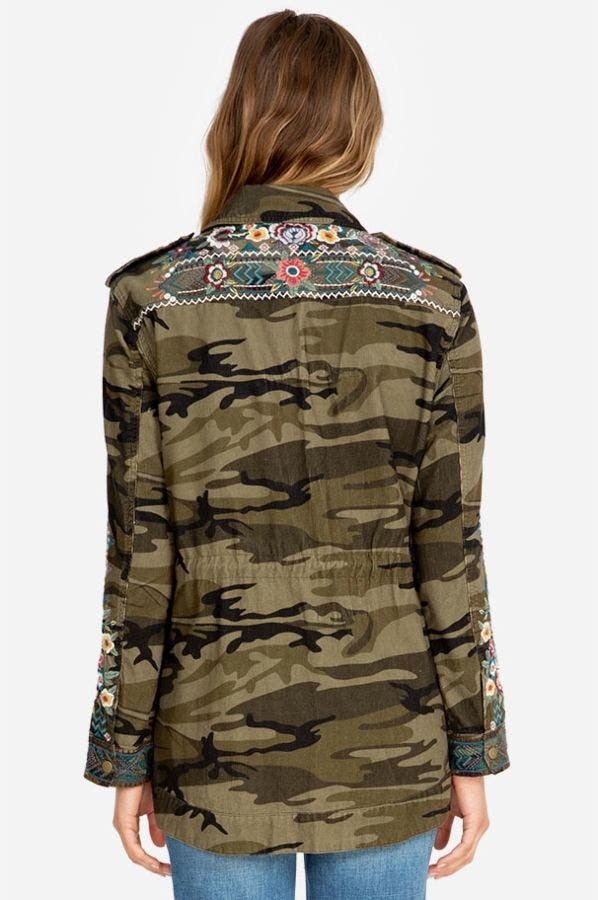 RAQUEL DRAWSTRING MILITARY COAT