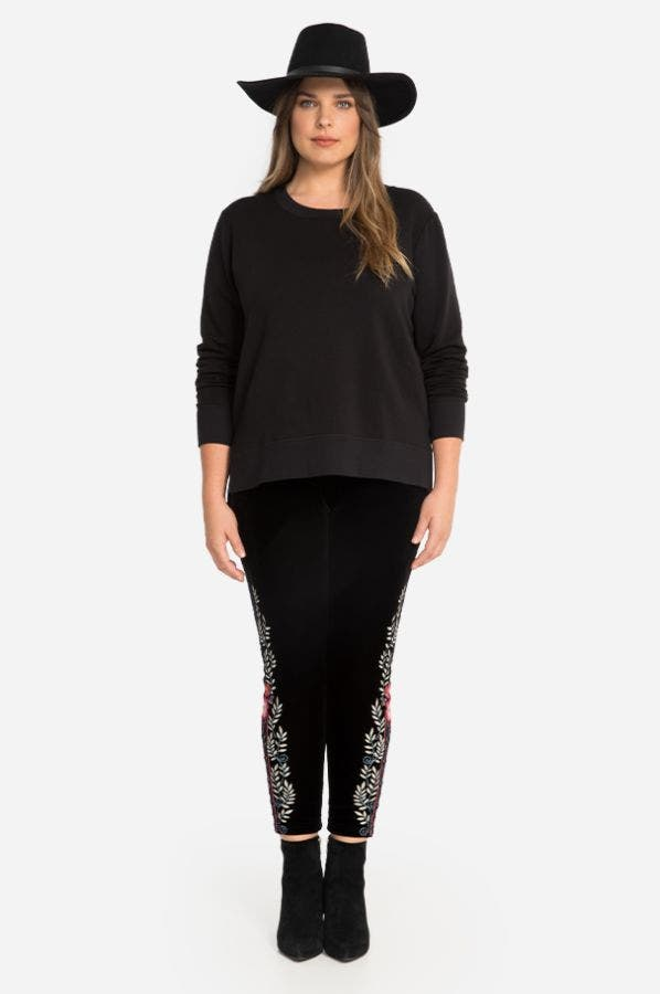 ELLIE VELVET LEGGING-PLUS SIZE