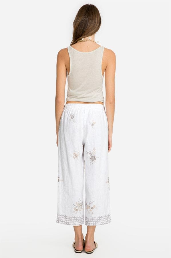 OLEANDER CROPPED HEAVY LINEN PANT
