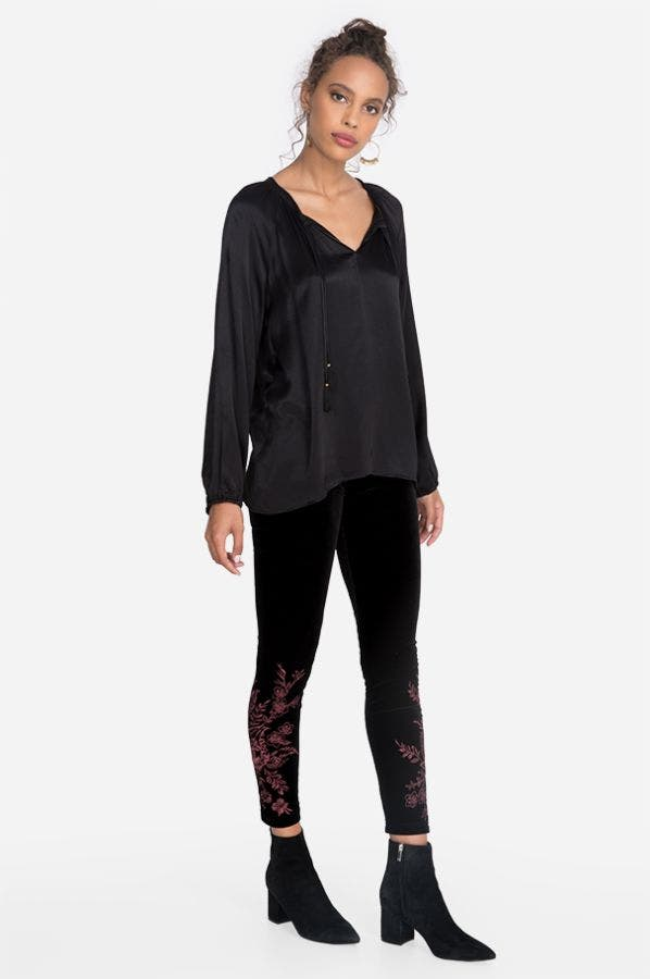 VAIORA STRETCH VELVET LEGGING