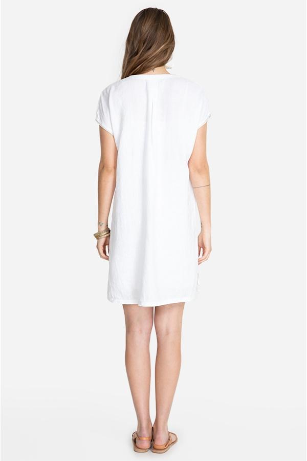 ORIANA LINEN EASY TUNIC DRESS