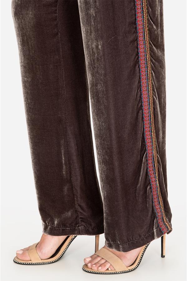 RAVI WIDE LEG VELVET PANT
