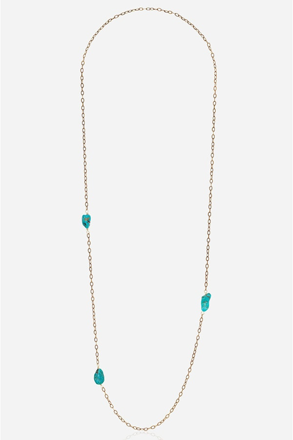 TURQUIOSE BY THE YARD NECKLACE