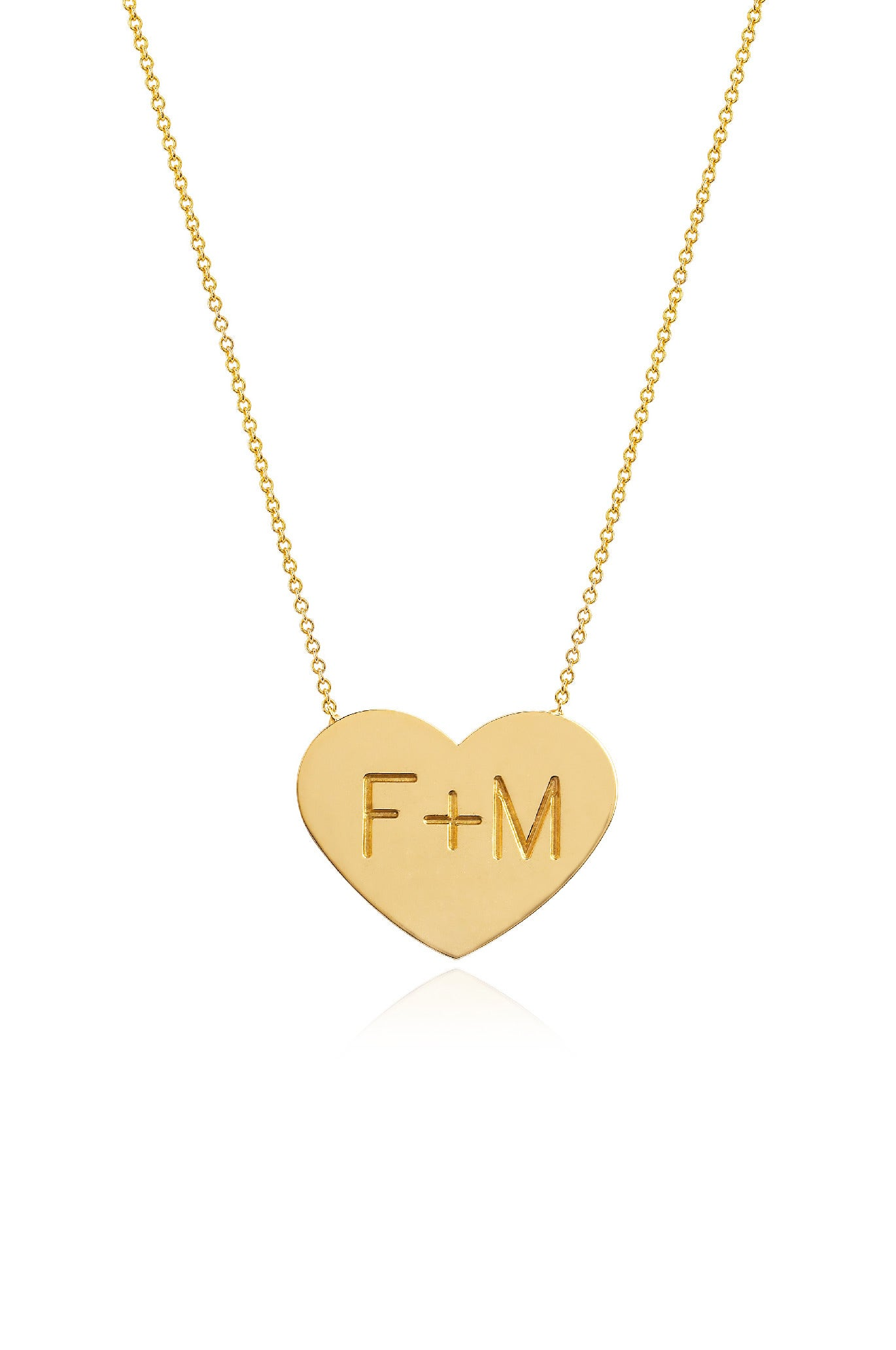 14K GOLD CUSTOM SMALL HEART OF GOLD NECKLACE