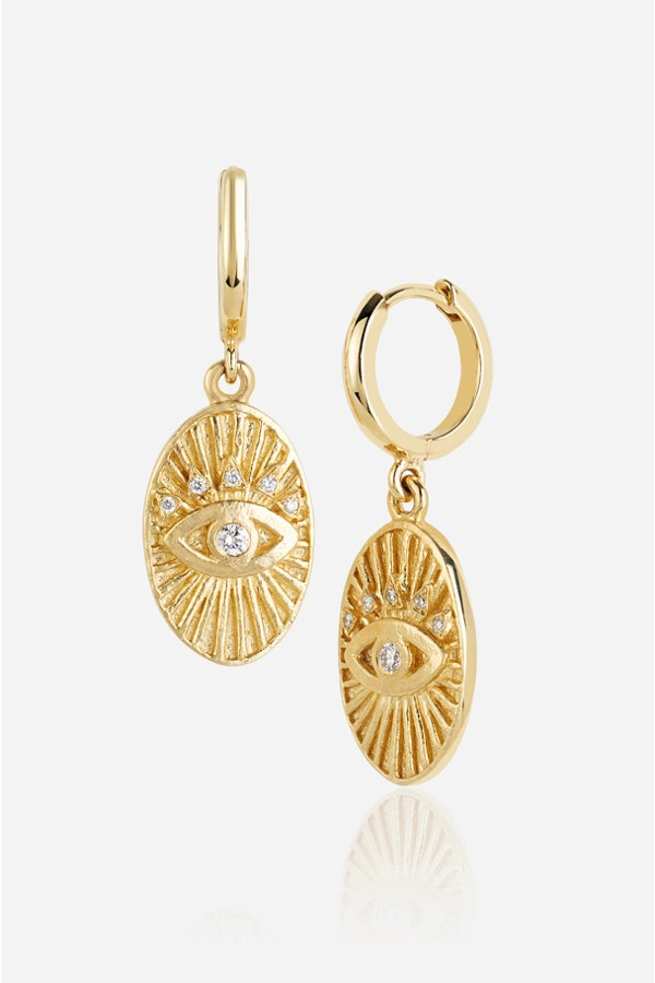 OVAL EYE PROTECTION AMULET HOOPS