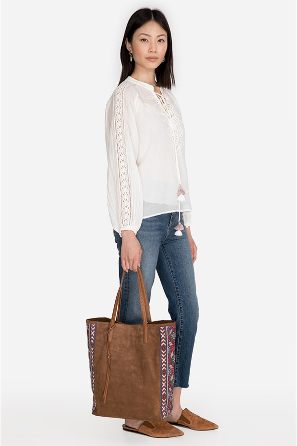LOLA EMBROIDERED SOFT TOTE