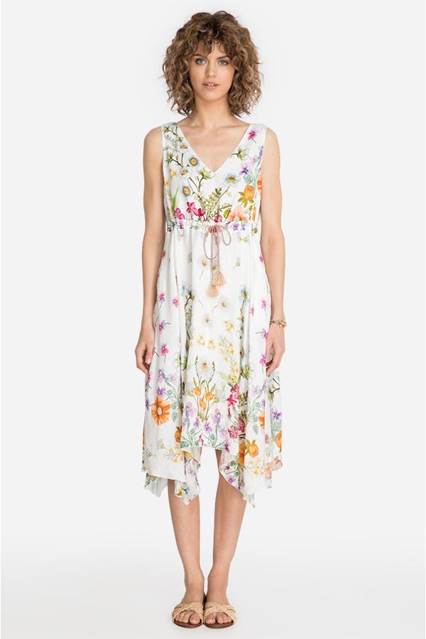 FLARIA V-NECK DRESS