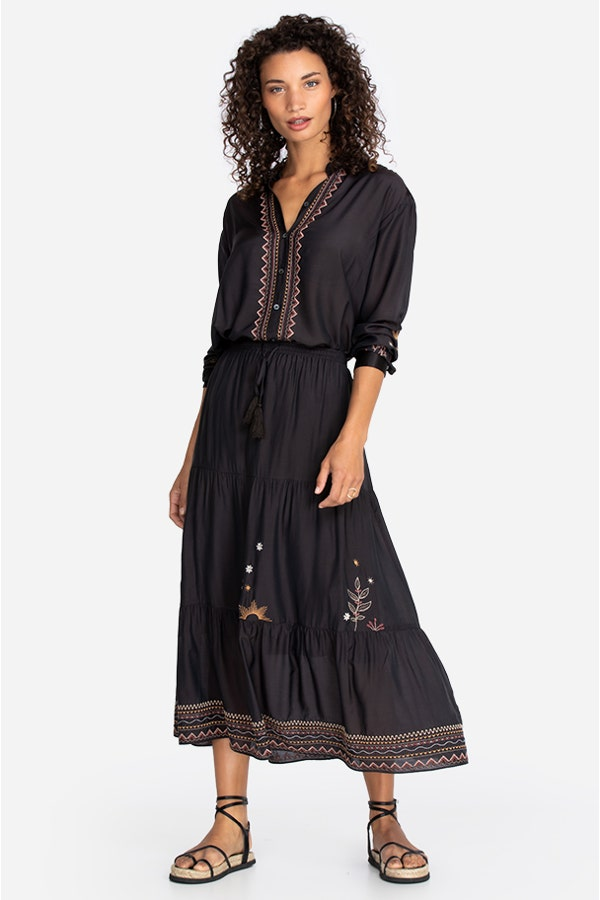 MAXI TIERED SKIRT