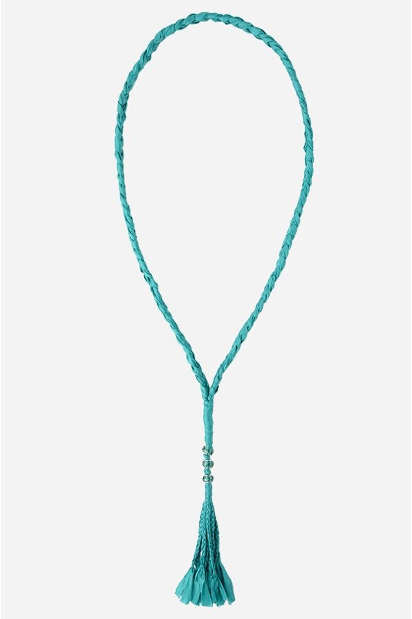 BRAIDED CRYSTAL NECKLACE