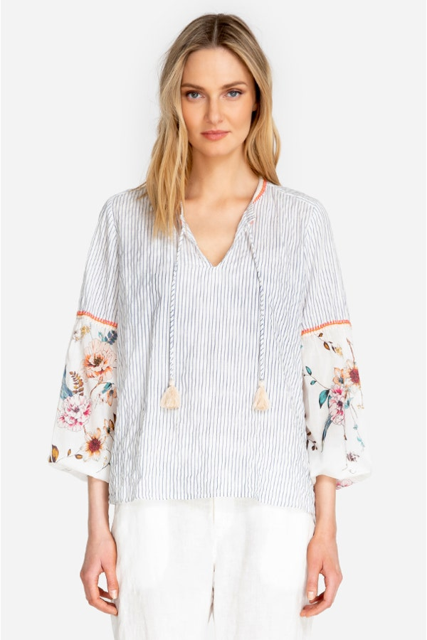 SCARF MIX BLOUSE